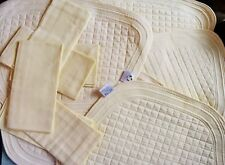 Quilted placemats & napkins set of six luxury quilted placemats six flat napkins