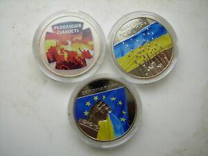 "Ukraine 5 hryvnas set 2015 ""HEAVENLY HUNDRED EUROMAIDAN REVOLUTION OF DIGNITY"""