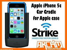 STRIKE ALPHA APPLE IPHONE 5C CAR CRADLE FOR APPLE CASE - BUILT-IN FAST CHARGER