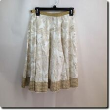 52bd22990 A.N.A. - A New Approach Floral Brown and White Full Skirt with Sequins 4  Petite
