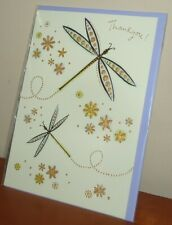 Thank You ! Greeting Card, Butterfly Theme, Blank Inside (Letter Post Size)
