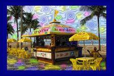 Psychedelic Mini Poster Photo Sticker 2x3: IPANEMA BEACH BAR BRAZIL
