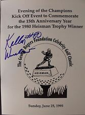 KELLEN WINSLOW SD Chargers Missouri Autograph Signed Heisman Program JSA 16G