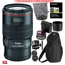 Canon EF 100mm f/2.8L IS USM Macro Lens + 67mm Filter + MANUFACTURER WARRANTY