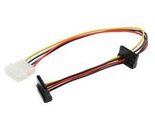 12inch CB-SATA2R 4Pin Molex to Dual 15pin SATA Power