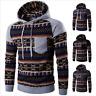 2018 Men Bohemia Geometric Hoodie Sweatshirt Hooded Pullover Jacket Coat Outwear