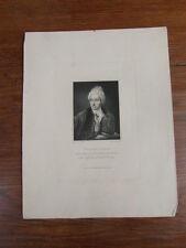 GRAVURE 1824 WILLIAM COWPER Poète Publish. W. WALKER London