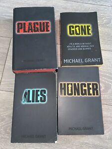 Michael grant gone series Book Bundle Hunger Plague Lies Gone HB & PB