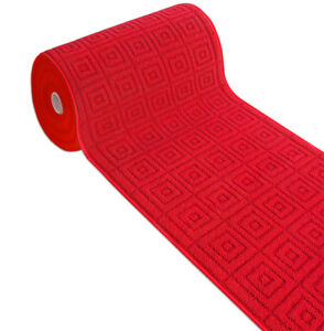Carpet Kitchen Bathroom Red Runner Weaving 3D Non-Slip Christmas Mod.evita