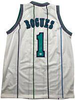 Muggsy Bogues autographed signed jersey NBA Charlotte Hornets PSA COA