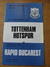 08/12/1971 Tottenham Hotspur v Rapid Bucarest [UEFA Cup] (Creased)