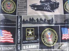 "MILITARY PRINT POLAR FLEECE FABRIC - U.S. Army - 60"" SOLD BTY 369"