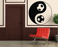 Soccer Football Ball Black White Sport Decor Wall MURAL Vinyl Art Sticker z837