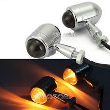 2pcs Chrome Turn Signal Lights For Yamaha V-Star XVS 650 1100 Custom Silverado