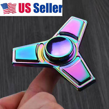 USA! Cool Tri Hand Fidget Spinner R188 Dustproof Finger Toy EDC for Kids&Adult