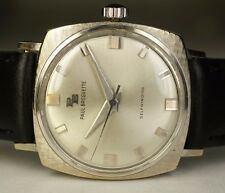Vintage Paul Breguette 14K White Gold Swiss Automatic Watch Cushion Sport Diver