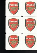 Arsenal Pack of Official Beer Mats Coasters Postage UK
