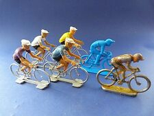 Lot de 6 figurines de cyclistes - 1 en métal, 5 en plastique