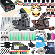 Complete Tattoo Kit 2 Machine Gun 10 Color Inks Power Supply DragonHawk- NEW