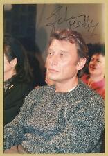 Johnny Hallyday (1943-2017) - Photo originale signée en personne à Paris - 80s