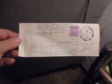 Ancienne Contravention Ceinture de Sécurité non attachée 1975 Timbre Fiscal 50fr