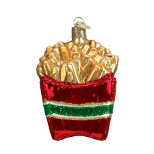 """French Fries"" (32099)X Old World Christmas Glass Ornament w/OWC Box"