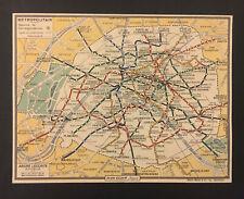 PLAN DU METROPOLITAIN PARIS PLAN ECLAIR ANDRE LECONTE EDITEUR VERS 1950