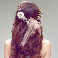 Floral Flower Party Wedding Crown Hair Wreaths Headband Hair Band GarlaWK