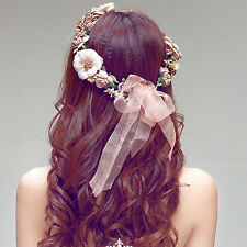 Floral Flower Party Wedding Crown Hair Wreaths Headband Hair Band GarlaWK