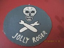WWII USAAF 90 BOMB GROUP JOLLY ROGER 321 ST  BOMB   FLIGHT JACKET PATCH