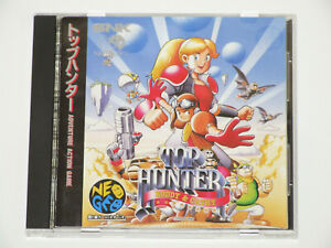 SNK Neo Geo CD Top Hunter Roddy & Cathy Video Game In Hand NGCD-046