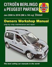 CITROEN Berlingo B9 Peugeot Partner Tipi & Van 1.6 diesel manual de Haynes 6341