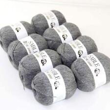 8Ballsx50g Pure Sable Cashmere Hand Knitwear Wool Shawls Soft Crochet Yarn 03