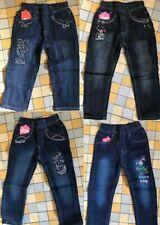 4 Stk. SWEET GIRL Jeans Gr.98-158 Mädchen Hose Gummizug Kinderhosen Paket *NEU