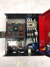 Fuji Electric Auto Breaker, # EA33F, 30A, AC220V, 3 Pole, & SJ-0G (AUX  1A) Used