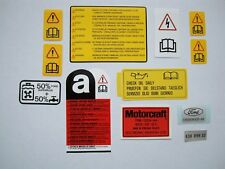 Ford Sierra RS500 Cosworth Sous Capot Moteur/Engine Bay Decal Set
