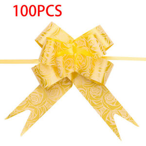 Ribbon Pull Bows Flowers Wedding Car Gift Wrap Hampers Ribbon Home Party Decor