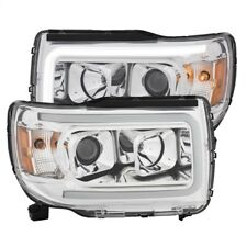ANZO for 2015+ GMC Canyon Projector Headlights w/ Plank Style Design Chrome w/ A
