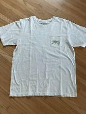 MOLLUSK Surf Shop California Graphic Men's MEDIUM. Ivory T-Shirt. 100% Cotton.