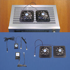 Receiver/Amplifier 12v trigger-controlled cooling fans/enlarged bases/multispeed