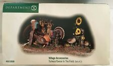 Dept 56 Thanksgiving Village Turkeys / Geese In The Field (Set of 2) #52939 Rare