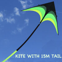 9ft  Parafoil Stunt Kite Single Line Delta Kite With 15M Kite Tail Outdoor Fly