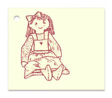 50 HANG TAGS SITTING DOLL PRICE DRESS GIRL CLOTHING PRIMITIVE BABY CHILD CRAFTS