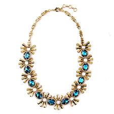 Collier Chaine Noeud Papillon Bow Metal Ovale Bleu Foncé Original Mariage AZ1