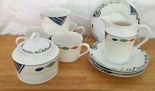 Mikasa Headline Buy By The Piece Creamer Sugar Bowl Cups Saucers HK232 Geometric