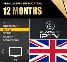 12 Month IPTV Subscription Firestick VOD MAG, Android, SmartTV, M3U GIFT UK 3PM