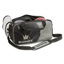 Brunswick Crown 2 Ball Tote Bowling Bag Black/Silver New