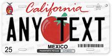 Sinaloa Tomato Mexico California Any Text Novelty Auto License Plate