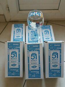 Tres beau lot de 6 verres Pastis 51 modèle Piscine neuf