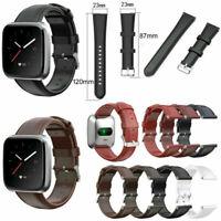 Leder Armband Uhrenarmband WatchBand Strap Für Fitbit Versa 2 / Versa Lite